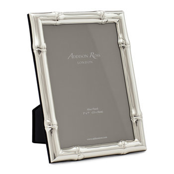 Wide Bamboo Photo Frame - Silver