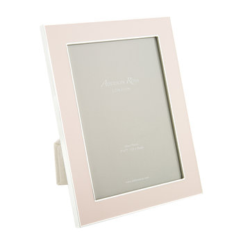 Pale Pink Enamel Photo Frame