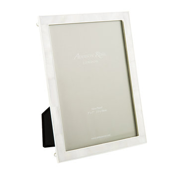 Cream Mother of Pearl & Silver Photo Frame