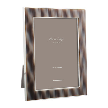 Faux Horn Photo Frame - Grey