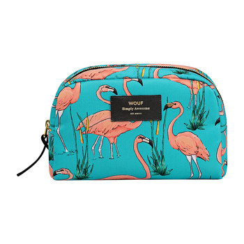 Pink Flamingos Cosmetic Bag
