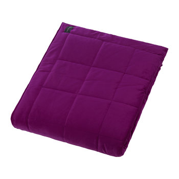 Square Velvet Bedspread - Grape - 240x200cm