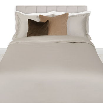 Egyptian Cotton Sateen Duvet Cover - Taupe