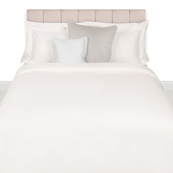 500 Thread Count Sateen Quilt Cover - Ivory