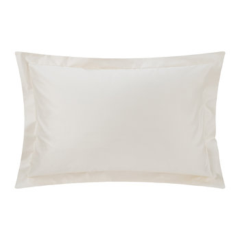 500 Thread Count Sateen Oxford Pillowcase Pair - Ivory