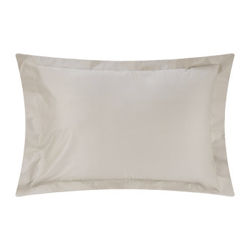 500 Thread Count Sateen Oxford Pillowcase Pair - Taupe