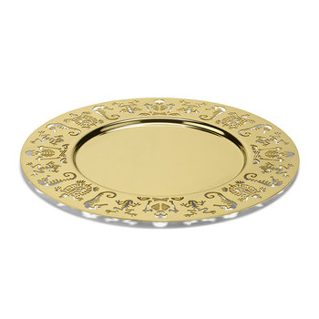 Perished Round Tray - Gold