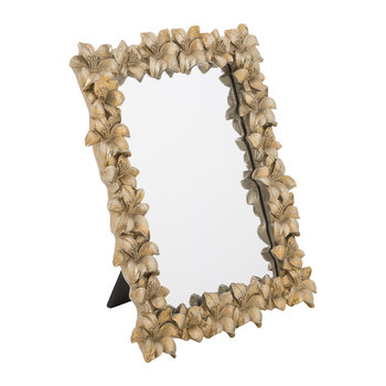 Gold Floral Mirror