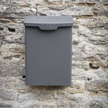 Shipton Steel Post Box - Charcoal