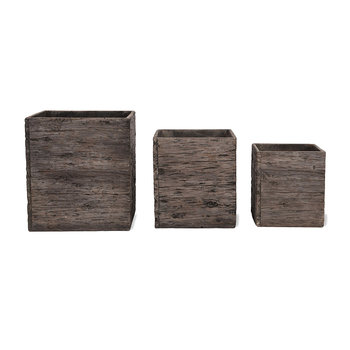 Westonbirt Square Planters - Set of 3