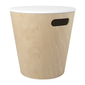 Woodrow Storage Stool - White/Natural