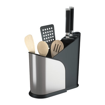 Furlo Expandable Utensil Holder - Black/Nickel