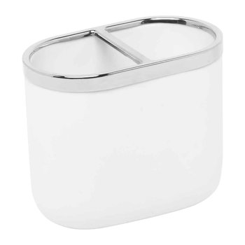 Junip Toothbrush Holder - Chrome/White