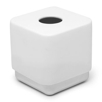 Junip Tissue Box - Chrome/White