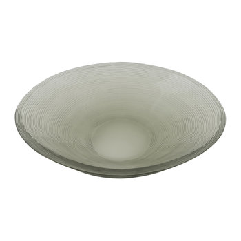 Line Cut Glass Soap Dish - Steel Grey