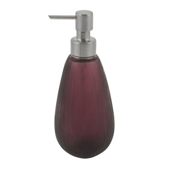Line Cut Glass Soap Dispenser - Purple