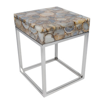 Cube Top Agate Table