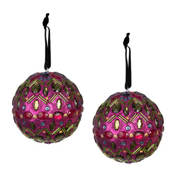 Set of 2 Embellished Tree Decorations - Siam