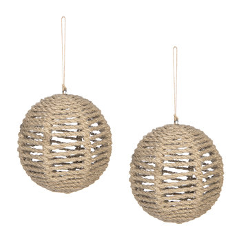 Set of 2 Rope Tree Decorations