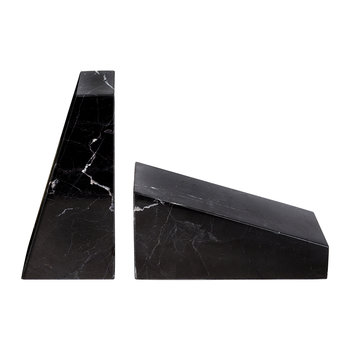 Marble Book Ends - Black