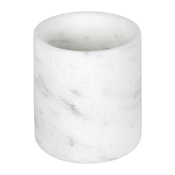 Marble Pen Pot/Toothbrush Holder - White