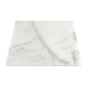 Square Marble Serving Board - White