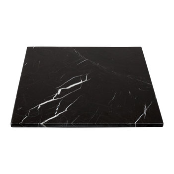 Square Marble Serving Board - Black - 30x30cm