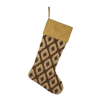 Bronze Beaded Stocking