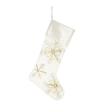 Ivory Snowflake Stocking