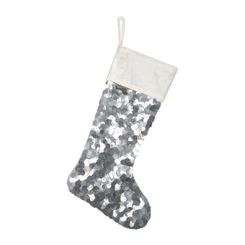 Silver Sequin Stocking