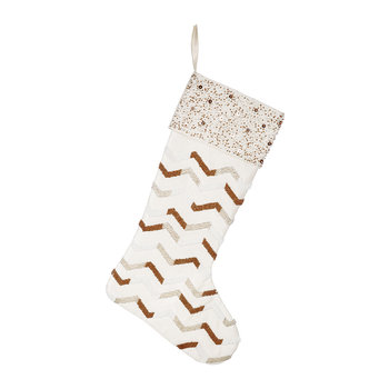 Graphic Beaded Stocking