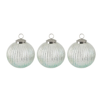 Set of 3 Frosted Tree Decorations