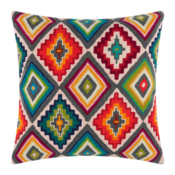 Rainbow Diamond Grid Cushion - 45x45cm