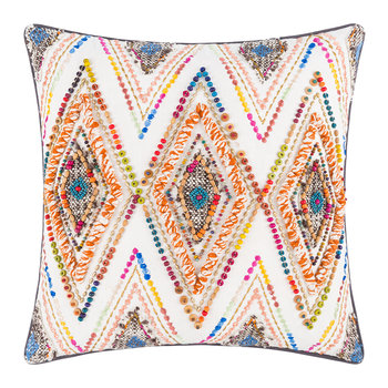 Rainbow Diamond Bead Cushion - 45x45cm