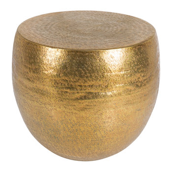 Drum Stool Side Table - Antique Brass