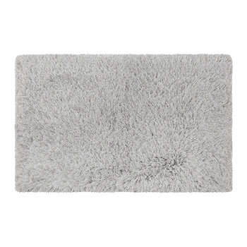 Plush Bath Mat - Silver