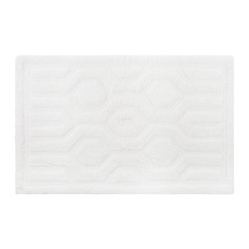 Hexagon Bath Mat - White