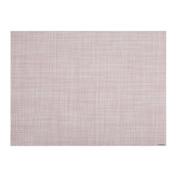 Mini Basketweave Rectangle Placemat - Blush