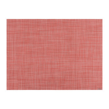 Mini Basketweave Rectangle Placemat - Guava