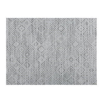 Mosaic Rectangle Placemat - White/Black