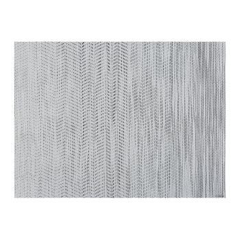 Wave Rectangle Placemat - White/Black