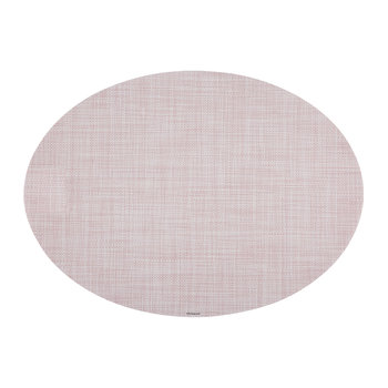 Mini Basketweave Oval Placemat - Blush