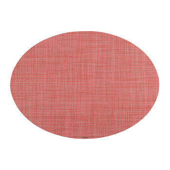 Mini Basketweave Oval Placemat - Guava