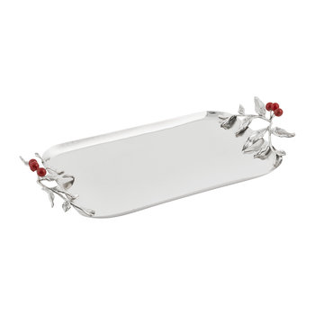 Red Berry Rectangular Tray