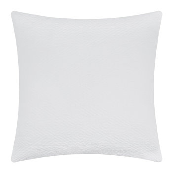 Diamond Textured Cushion - 50x50cm - White