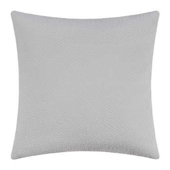 Diamond Textured Cushion - 50x50cm - Silver