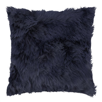 Sheepskin Cushion - 45x45cm - Navy