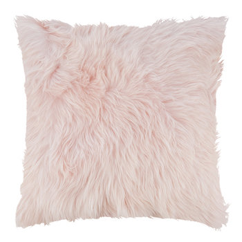 Sheepskin Cushion - 45x45cm - Pink