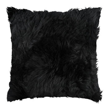 Sheepskin Cushion - 45x45cm - Black