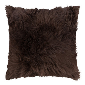 Sheepskin Cushion - 45x45cm - Chocolate